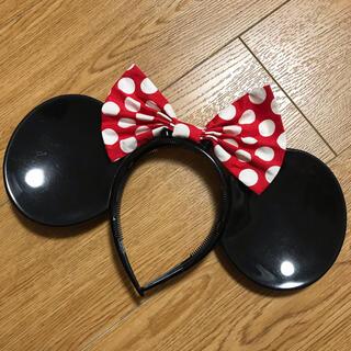 ディズニー(Disney)のディズニー カチューシャ ミニーマウス プラスチック製 廃盤デザイン(カチューシャ)