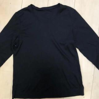シャルレ(シャルレ)のCHARLE 長袖カットソー 丸首 黒Tシャツ  Sサイズ(Tシャツ(長袖/七分))