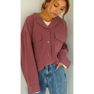 ホリデイ(holiday)のHoliday新品アムンゼンオープンカラーシャツジャケット(シャツ/ブラウス(長袖/七分))