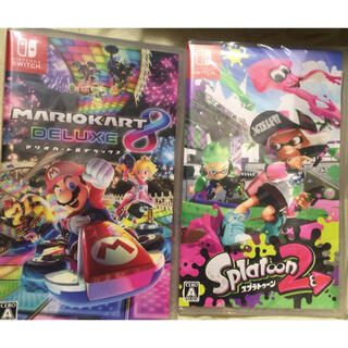 ニンテンドースイッチ(Nintendo Switch)の★新品★マリオカート8 デラックス+スプラトゥーン2 Switchソフトセット(家庭用ゲームソフト)