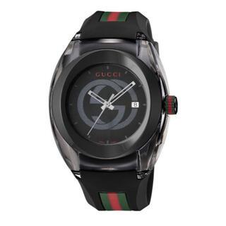 グッチ(Gucci)のGUCCI  グッチ SYNC  腕時計 黒ラバー(腕時計(アナログ))
