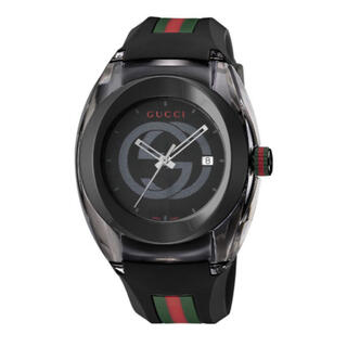 Gucci - GUCCI  グッチ SYNC  腕時計 黒ラバー