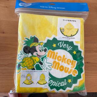 ディズニー(Disney)のフード付きタオル(タオル/バス用品)
