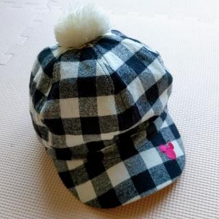 ディズニー(Disney)のミッキー ポンポン付き帽子(帽子)