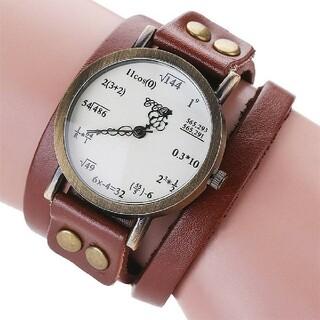 数式デザイン腕時計 二重巻 アンティーク(腕時計(アナログ))