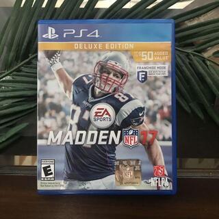 英語学習にも★MADDEN 17 マッデン NFL PS4 デラックス盤 北米版(家庭用ゲームソフト)