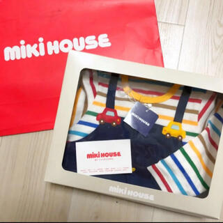 mikihouse - ★ミキハウス 車オーバーオール風カバーオール定価10120円現行品★