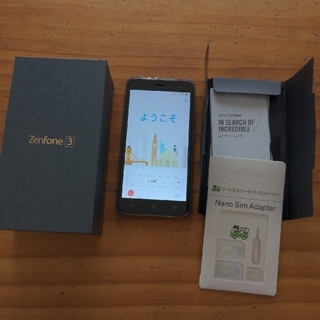 エイスース(ASUS)のZenFone3 ZE520KL 日本版 ブラック 32GB 3GB(スマートフォン本体)