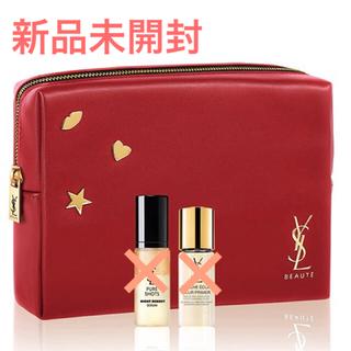 Yves Saint Laurent Beaute - YSL 限定コスメポーチ  新品未使用 赤 レザー調
