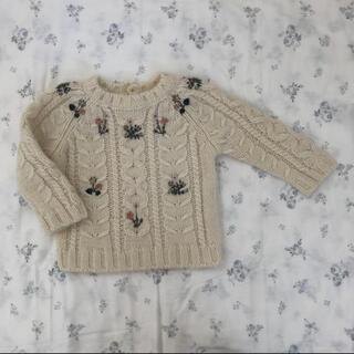 ボンポワン(Bonpoint)のBonpoint ニット 18m 刺繍(ニット/セーター)