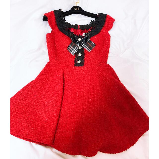 JEWELS(ジュエルズ)のローブドフルール ツイードフレアドレス レディースのフォーマル/ドレス(ナイトドレス)の商品写真