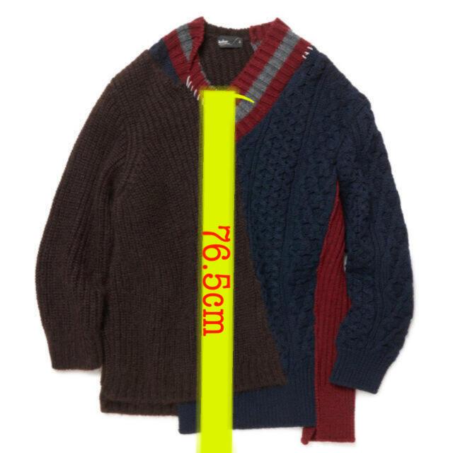 kolor(カラー)のkolor 20aw クレイジーパターンニット 即日発送! メンズのトップス(ニット/セーター)の商品写真