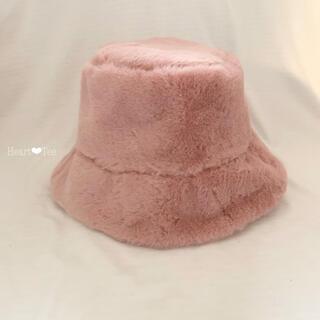 ZARA - 韓国 ❁ バケットハット ファー 帽子 ピンク 新品