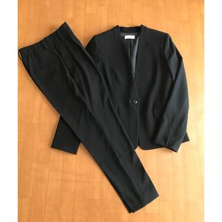 PLST - 【美品】PLST プラステ ストレッチノーカラースーツ セットアップ