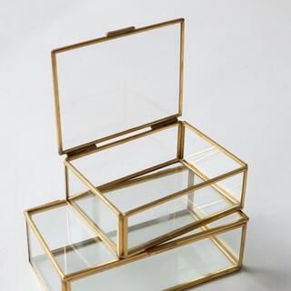 アクタス(ACTUS)の新品 アクタス ACTUS購入 プラスBRASS 真鍮ガラスケース カプサ(リビング収納)