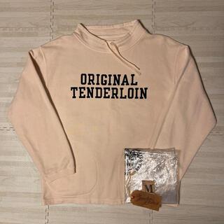 テンダーロイン(TENDERLOIN)の人気品! TENDERLOIN モック ネック スウェット トレーナー 白 M(スウェット)