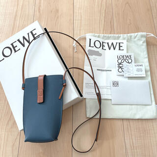 LOEWE - LOEWE ポケット ソフトグレイン カーフスキン Steel Blue