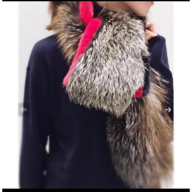 L'Appartement DEUXIEME CLASSE(アパルトモンドゥーズィエムクラス)のL'appartement Mink Fox Line Stole レディースのファッション小物(マフラー/ショール)の商品写真