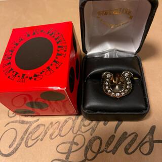 テンダーロイン(TENDERLOIN)の希少品! TENDERLOIN ホースシューリング 8K ゴールド ダイヤ 10(リング(指輪))