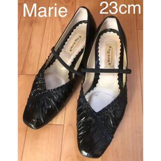 マリエオーガニクス(Malie Organics)の美品 23EE パンプス 黒 レディース 靴(ハイヒール/パンプス)