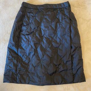 UNIQLO - ユニクロ 防風ウォームイージーラップスカート M 黒