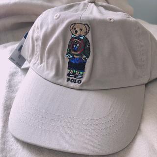POLO RALPH LAUREN - 【大人気ポロ ラルフローレンキャップ 帽子 ベージュ ポロベアキャップ POLO