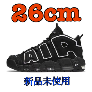 ナイキ(NIKE)の26cm NIKE AIR MORE UPTEMPO BLACK/WHITE(スニーカー)