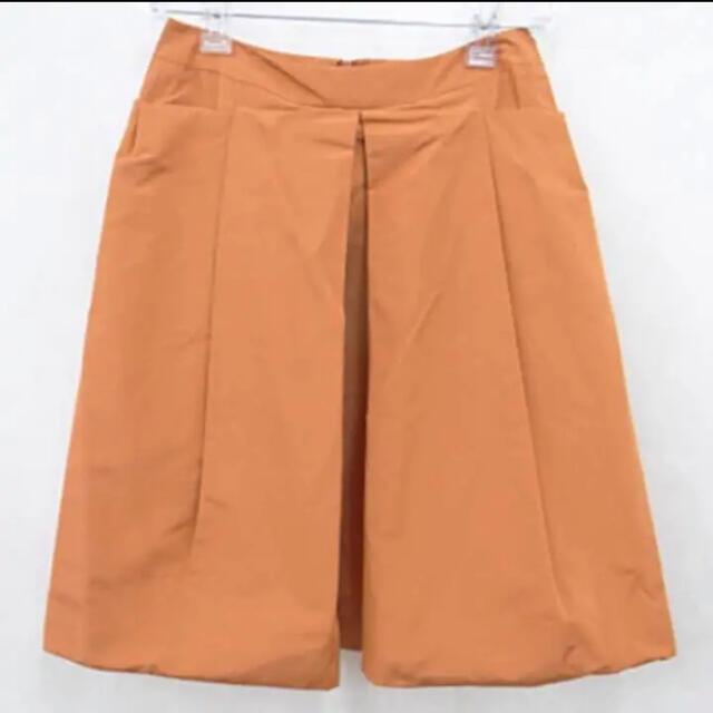 FOXEY(フォクシー)の[美品] フォクシー ひざ丈 フレアスカート38 オレンジ系 レディースのスカート(ひざ丈スカート)の商品写真