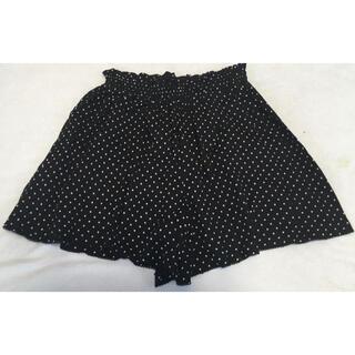ピンクハウス(PINK HOUSE)のピンクハウスチェルシー フレアショートパンツ定価11880円ブラックスカート(ショートパンツ)