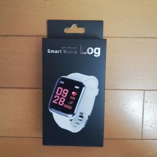 スマートウォッチ(Smart Watch) Log ホワイト(その他)