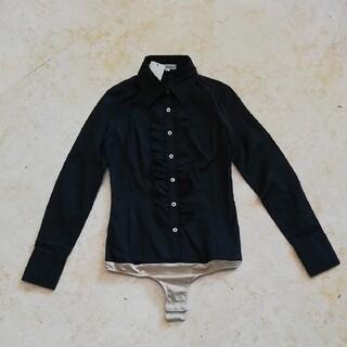 ナラカミーチェ(NARACAMICIE)の新品未使用タグ付きナラカミーチェ、フリルデザイン付きボディーシャツブラウス、S、(シャツ/ブラウス(長袖/七分))
