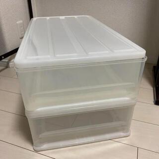 ニトリ(ニトリ)の押入収納ケース 2個セット(押し入れ収納/ハンガー)
