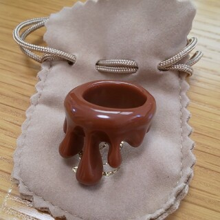 キューポット(Q-pot.)のQ-pot メルト チョコ リング(リング(指輪))