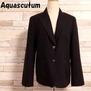 アクアスキュータム(AQUA SCUTUM)の購入者ありアクアスキュータム カシミヤ混2ボタンジャケット サイズ6F(テーラードジャケット)