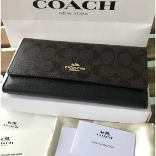 COACH - COACH コーチ 人気の長財布 新品 ブラック F53763 長財布