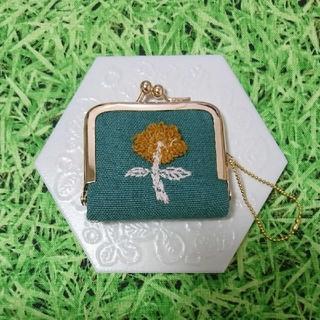 mina perhonen - ミナペルホネン✨skip グリーン ハンドメイド コインケース