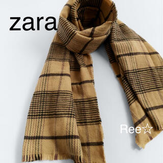 ZARA - zara チェック柄マフラー  ザラ スカーフ  新品未使用