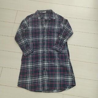 ジーユー(GU)のGU ロングシャツ 140(ブラウス)
