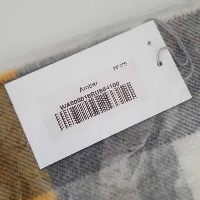 Johnstons(ジョンストンズ)のジョンストンズ カシミヤ100% マフラー ブロックチェック Amber レディースのファッション小物(マフラー/ショール)の商品写真