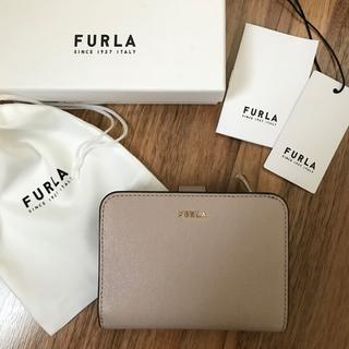 Furla - 新品!フルラ FURLA 二つ折り財布 ダリア ベージュ