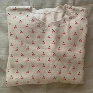 snidel - Cherry knit tops