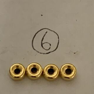 goro's - 18金 5mmビーズ4個セット⑥ k18 中空