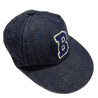 ブルーブルー(BLUE BLUE)のBLUE BLUE ブルーブルー デニム Bワッペン ベースボールキャップ 帽子(キャップ)
