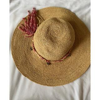 ボンポワン(Bonpoint)の美品 ボンポワン麦わら帽子 T1(帽子)