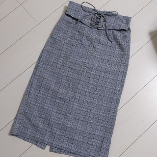 シマムラ(しまむら)の付属ベルト付き ひざ丈タイトスカート(ひざ丈スカート)