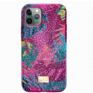 スワロフスキー(SWAROVSKI)のswarovski♡完売品 新品 iPhone 11proケース トロピカル(iPhoneケース)