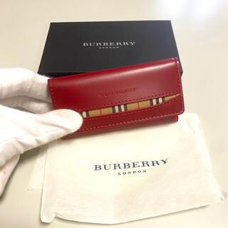 BURBERRY - バーバリー キーケース レッド Burberry