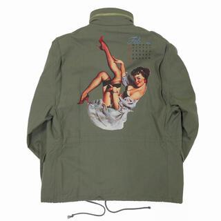 """DAIRIKU """"Pinup Girl"""" Washed M65 Jacket"""