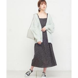 natural couture - 【値下げ】ナチュラルクチュール 棒針風ミドルカーディガン ニットカーデ