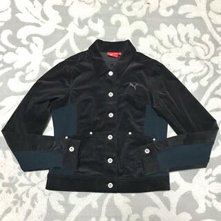 プーマ(PUMA)の◆プーマ レディース コーデュロイ 長袖ジャケット(ブラック)◆(ブルゾン)